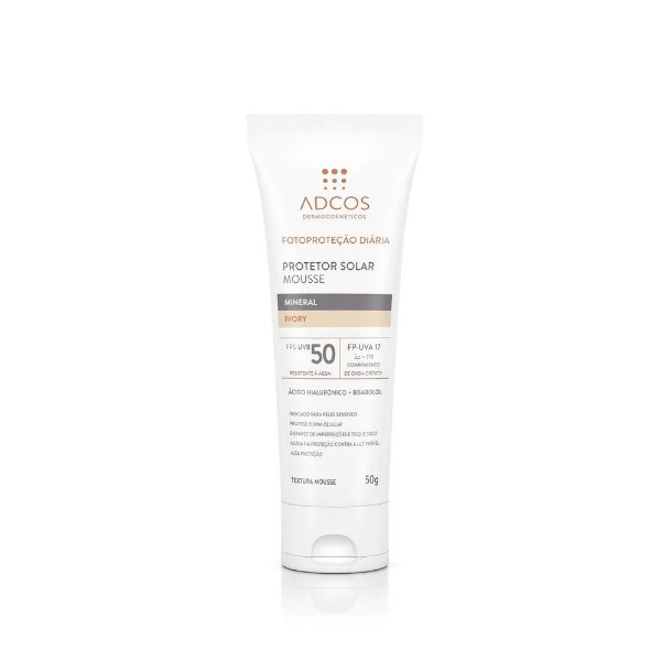 Adcos Protetor Solar Mousse Mineral Fps 50 Peach 50g