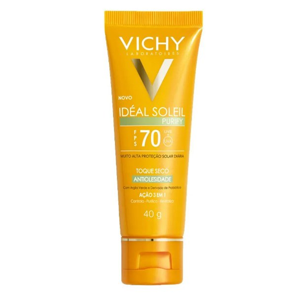 Vichy Protetor Solar Idéal Soleil Purify FPS70 40g