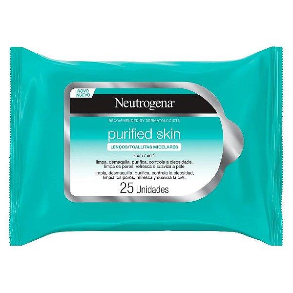 Neutrogena Purified Skin Lenço Micelar 7 Em 1 25un