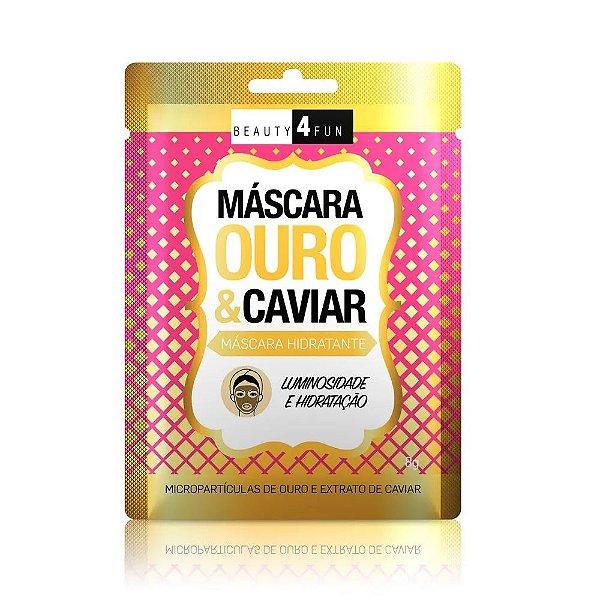 Beauty 4 Fun Máscara Hidratante Ouro e Caviar 8g
