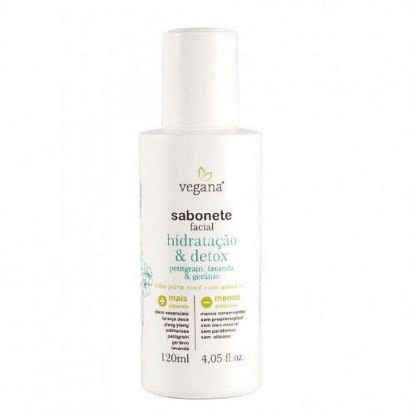 Vegana Sabonete Facial Hidratação e Detox 120ml
