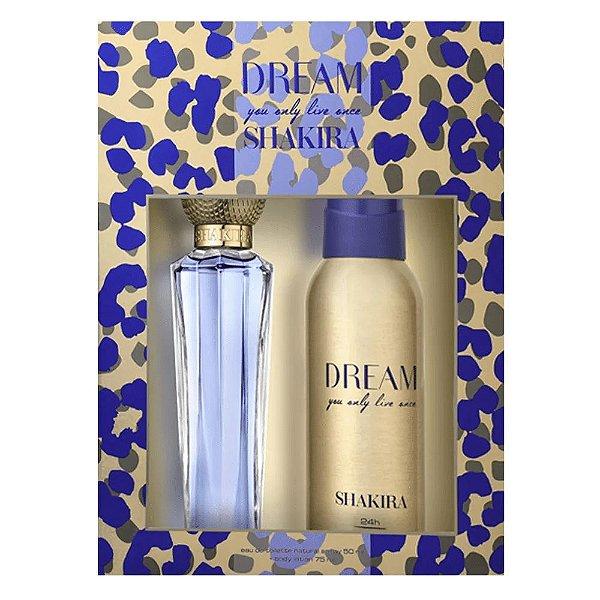 Shakira Kit Dream Perfume Feminino 80ml + Desodorante 150ml