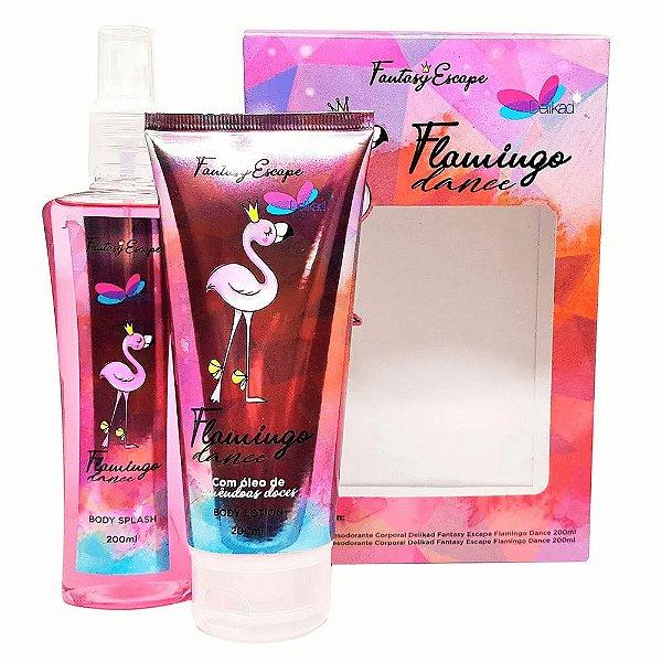 Delikad Kit Fantasy Escape Flamingo Dance Feminino Loção Corporal + Body Splash 200ml