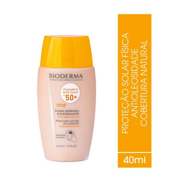 Bioderma Photoderm Nude Touch Fps50+ Claro 40ml