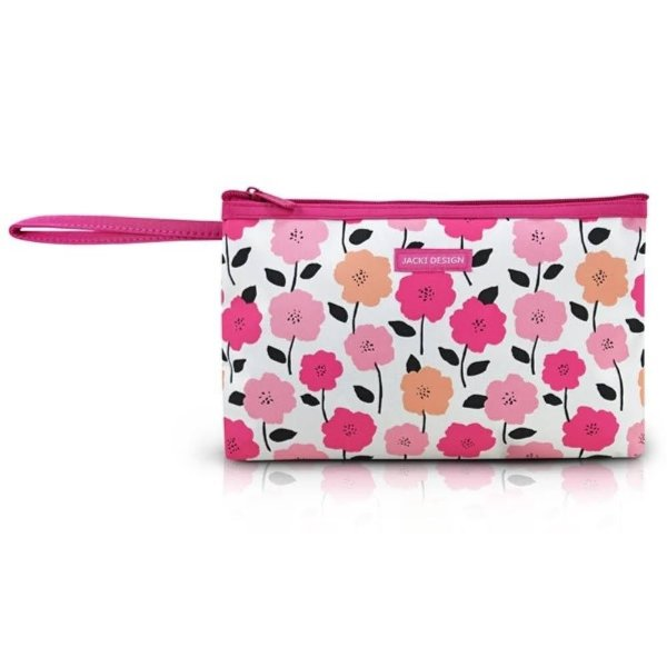 Jacki Design Necessaire Com Alça Lover Floral Rosa