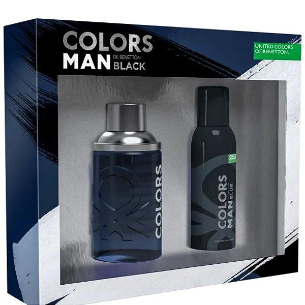 Benetton Kit Bnt Colors Black Eau de Toilette 100ml + Sg 75ml