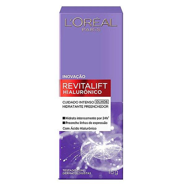 Loreal Paris Revitalift Hialurônico Cuidado Intenso Olhos 15g