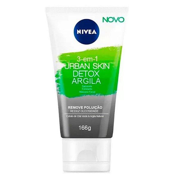 Nivea Máscara Facial 3 Em 1 Urban Skin Detox Argila 150ml