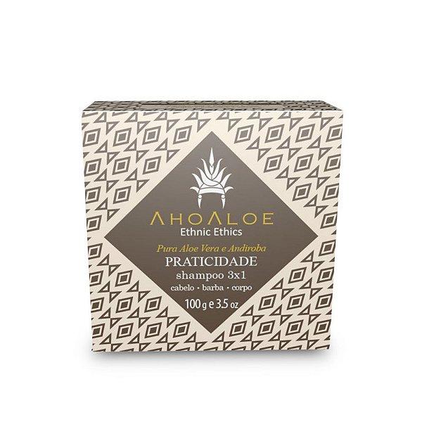 Ahoaloe Shampoo Sólido 3X1 Praticidade 100g