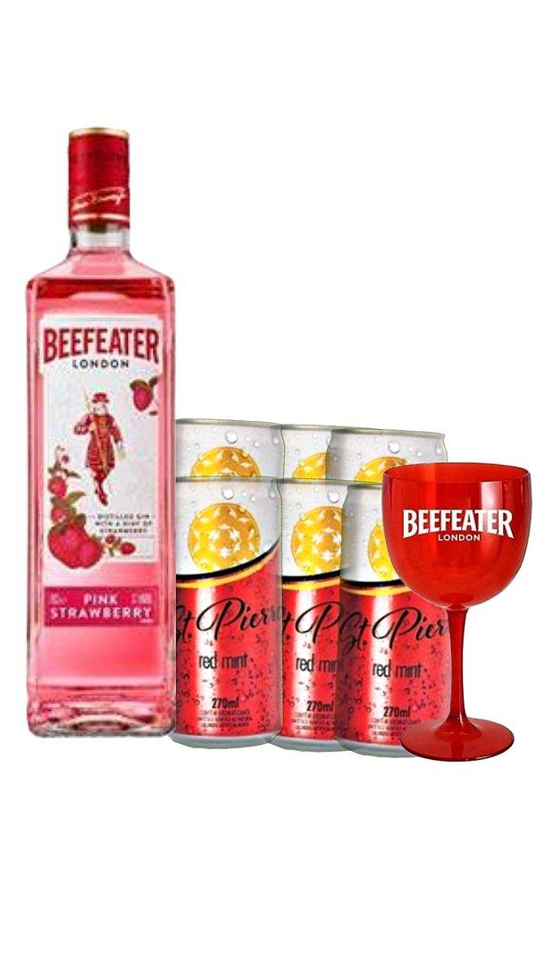 kit  01 Beefeater Pink+ 06 unidades de Red Mint+1 taça exclusiva da marca