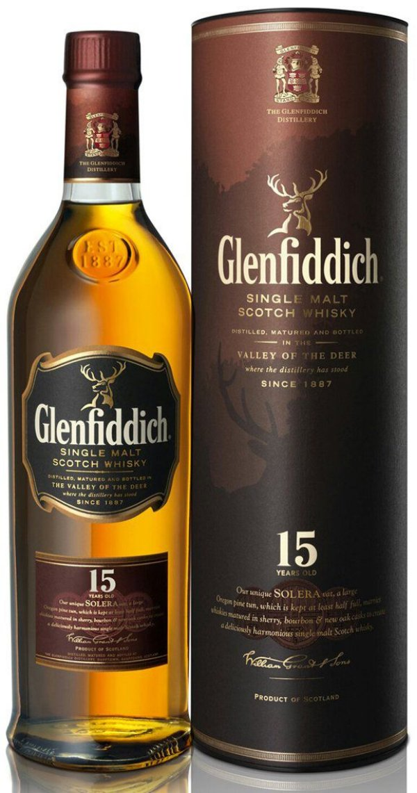 Whisky Glenfiddich Single malt 15anos 750ml