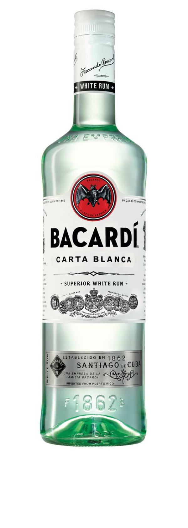 Rum Bacardi Carta Blanca 980ml