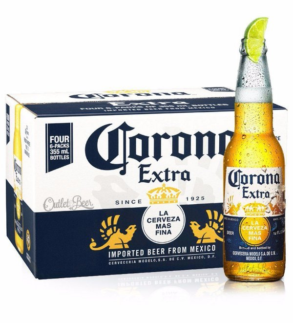 Cerveja Corona Extra LongNeck CX24UND 355ml