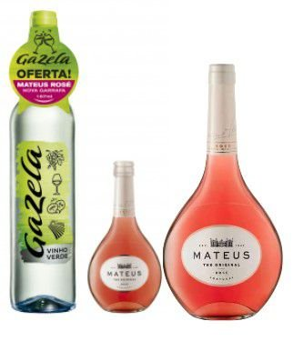 Kit Vinho Gazela 750ml + Vinho Mateus Rose 750ml - Grátis Mateus Rose 187ml