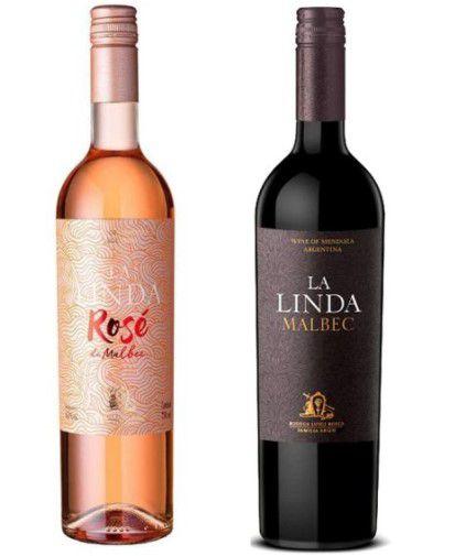 Kit  01 Vinho Luigi Bosca Finca La Linda Rosé750ml +01 Vinho Luigi Bosca Finca La Linda Malbec 750ml