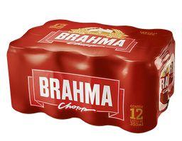 Cerveja Brahma Latão cx 12x473ML