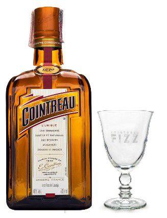KIT 1Cointreau 700ML + 1 Taça de vidro exclusivo da marca