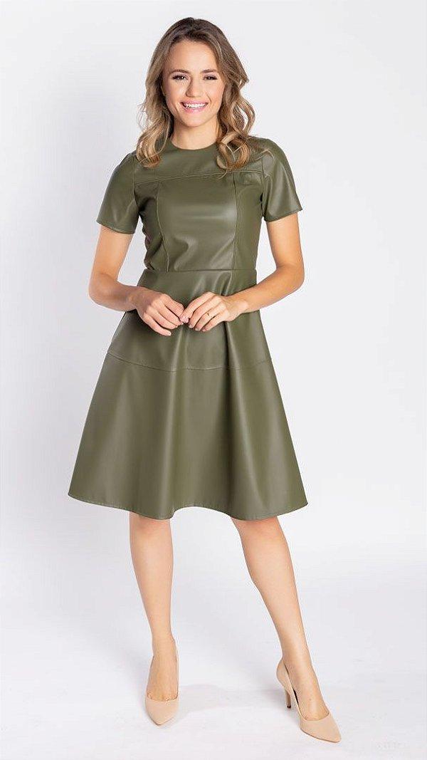Vestido Feminino Couro Victória - Verde