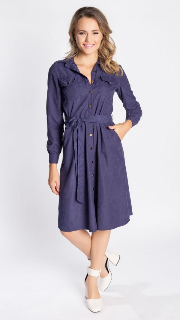 Vestido Feminino Chemise Debora  - Azul