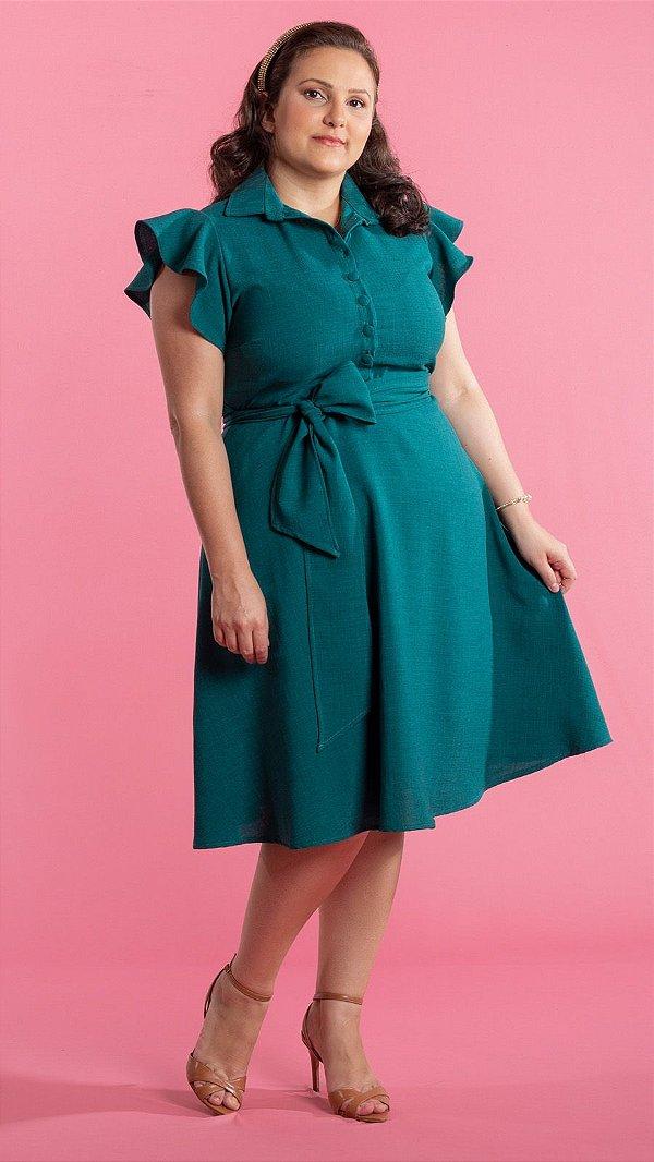 Vestido feminino Cintia Plus Size - Verde