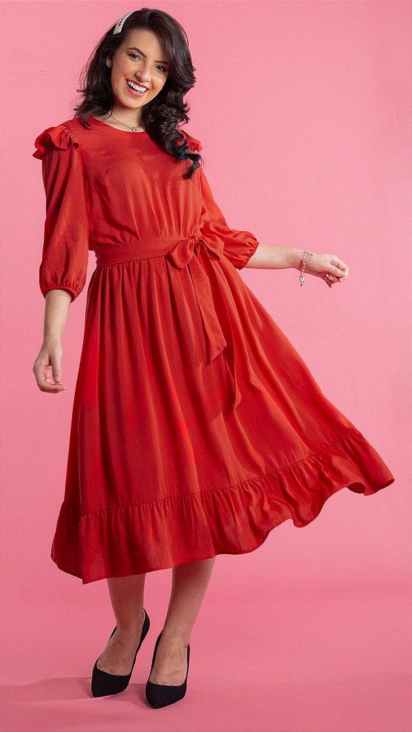 Vestido Feminino Rute Vermelho