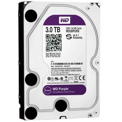 HD WD 3TB Purple SATA 6 Gb/s