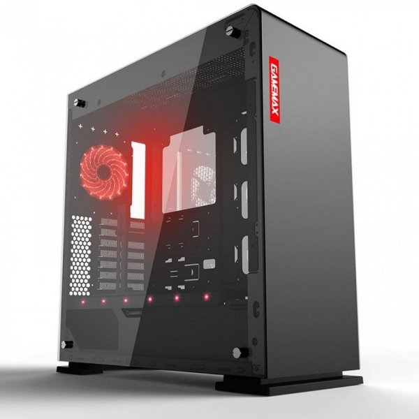Gabinete Gamer Gamemax Vega M909 RGB, Lateral em vidro, Full Tower, Com 1 Fan, Black, S-Fonte, GMX-VEGA-B