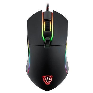Mouse Gamer Motospeed V30 Preto RGB 3500DPI