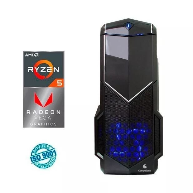 Computador Gamer AMD Ryzen 5 2400g / 1tb / 8gb / Radeon Rx Vega - Compusonic