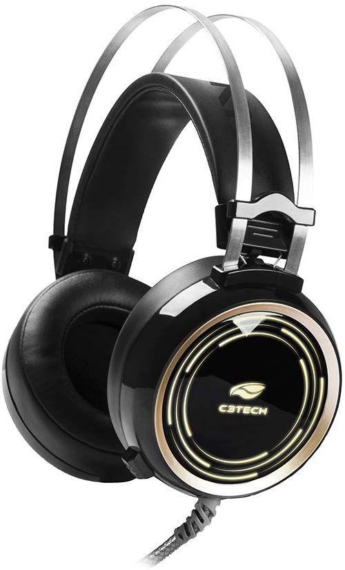 Fone com Microfone Gamer Black Kite PH-G310BK, C3TECH, Microfones e Fones de Ouvido…