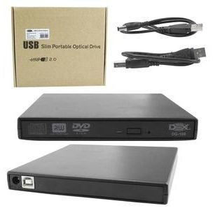 Mini Gravador CD E DVD Slim Externo USB 2.0 DEX DG-100