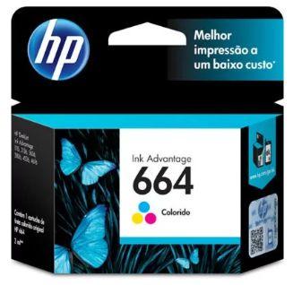 Cartucho de Tinta HP - Colorido 664 2ML