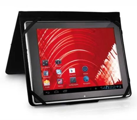 Capa E Suporte Multilaser Para Tablet Cover 8 Pol. Preto -