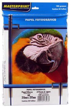 Papel Fotográfico Glossy A4 180 Gramas 50 Folhas - Masterprint