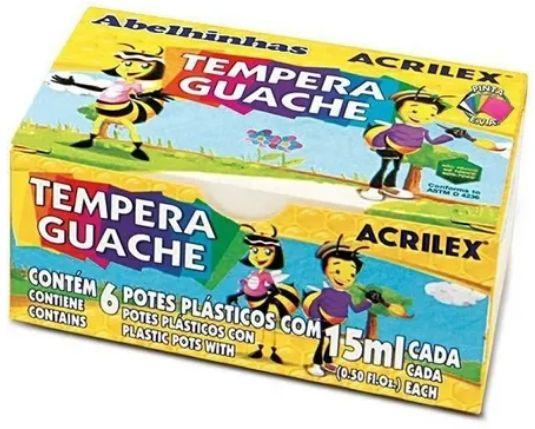 Tinta Guache 15ml 6 Cores