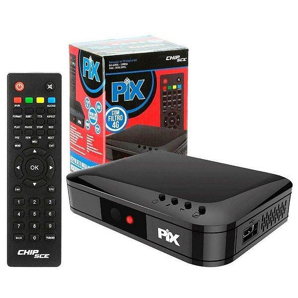 Conversor Receptor De Tv Digital HD C/ Filtro 4G SC1001 - Pix