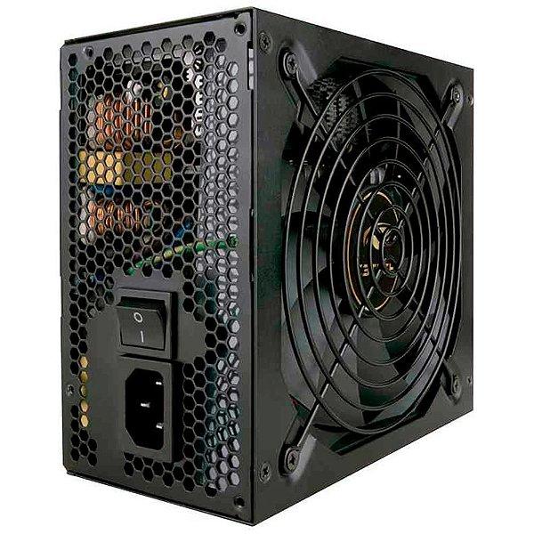 Fonte Gamer ATX C3Tech 500W 80Plus Bronze Preto - PS-G500B