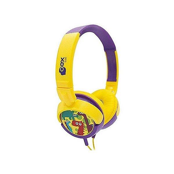 Headphone Infantil Dino Oex Kids 15w Hp300