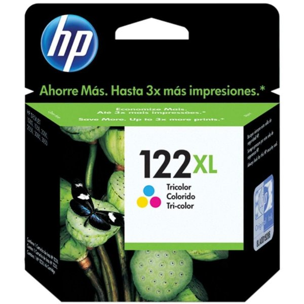 Cartucho de Tinta HP 122XL Colorido - CH564HB