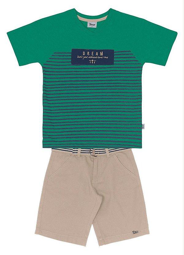b63fef556c Conjunto Camiseta com Bermuda Sarja Trick Nick - Maso Store