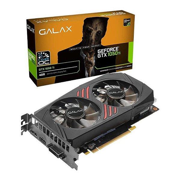 Placa de Video Galax Geforce GTX 1050 TI 1 Click OC 4gb Gddr5 128 Bits Dp/hdmi/dvi - 50iqh8dsq3cc