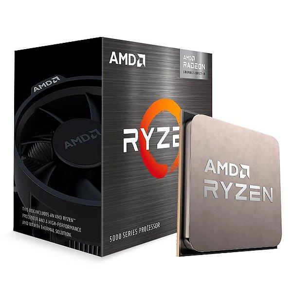 Processador AMD Ryzen 5 5600G, 3.9GHz (4.4GHz Max Turbo), AM4, Vídeo Integrado, 6 Núcleos - 100-100000252BOX
