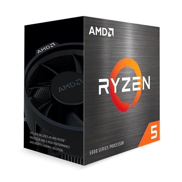 Processador AMD Ryzen 5 5600X, Cache 35MB, 3.7GHz (4.6GHz Max Turbo), AM4, Sem Vídeo - 100-100000065BOX