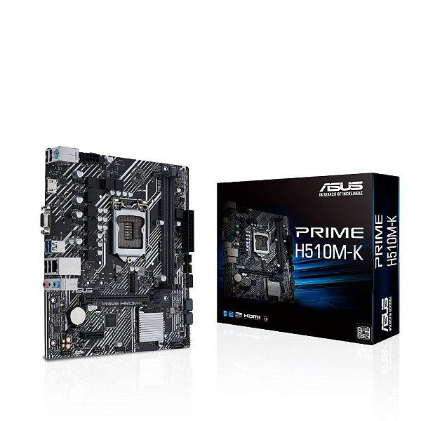 Placa Mãe Asus Prime H510M-K Intel LGA 1200