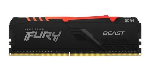 Memória Hyperx Fury Beast Rgb 16gb 3200mhz Ddr4
