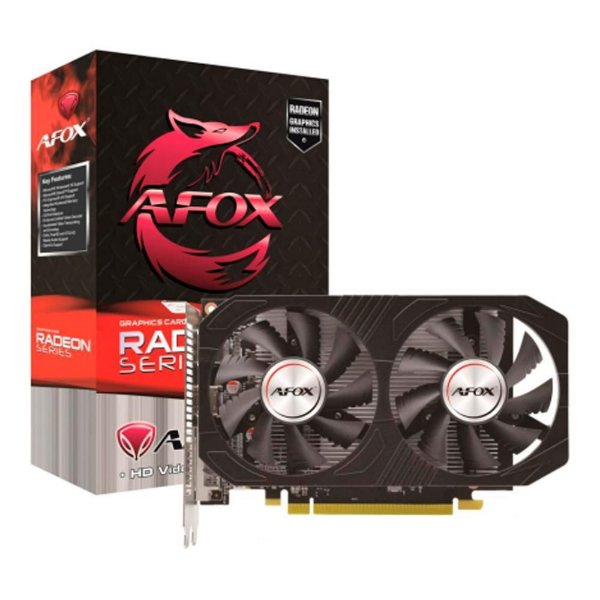 Placa de Vídeo Afox Radeon RX 560, 4GB DDR5, 128Bit, Atx Dual Fan, HDMI/DisplayPort, Preto - AFRX560-4096D5H4