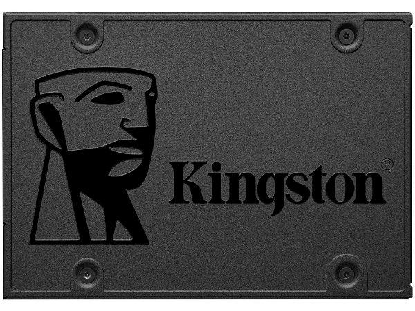 SSD 240GB Kingston Sata Rev. 3.0 - Leituras 500MB/s e Gravações 350MB/s A400
