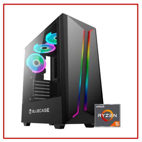 PC LIDER GAMER - RYZEN 5 2400G/A320M/8GB/SSD 240GB/HD 500GB/500W 80 BRONZE/VEGA 11/GABINETE GAMER RGB