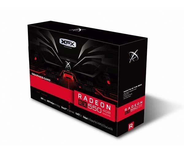 PLACA DE VIDEO XFX RADEON RX 550 4GB GDDR5 128-BIT, RX-550P4SFG5