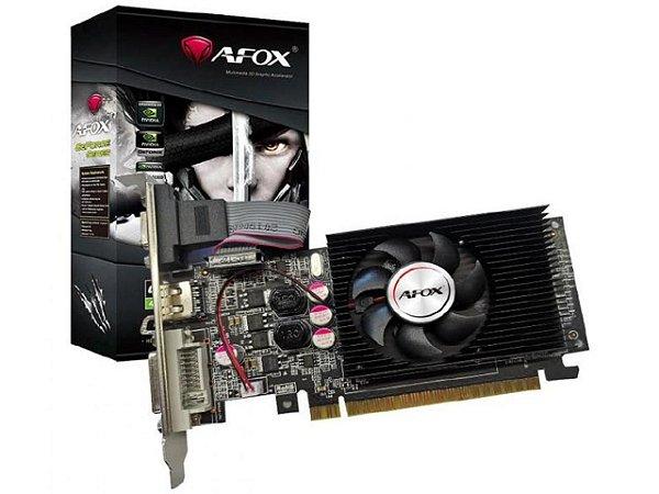 PLACA DE VÍDEO AFOX GEFORCE GT610 2GB, DDR3, 64 BITS, LOW PROFILE, HDMI/DVI/VGA - AF610-2048D3L7-V6